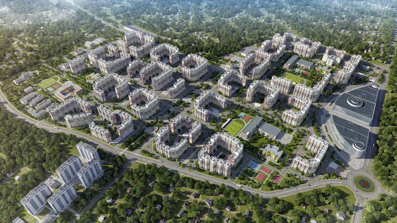 Планировка Двухкомнатная квартира площадью 50.6 кв.м в ЖК «Микрорайон Новое Пушкино»